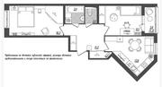 ЖК «Квартал Галактика», планировка 2-комнатной квартиры, 59.90 м²