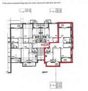 МЖК «Горки Парк», планировка 3-комнатной квартиры, 90.00 м²