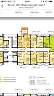 ЖК «Шуваловский», планировка 1-комнатной квартиры, 34.25 м²