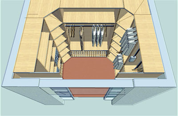 Гардеробная комната дизайн 2 кв.м